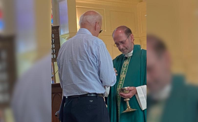 Catholic Priest Gives Joe Biden Communion Even Though He's Radically Pro-Abortion